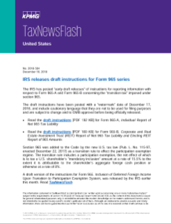 form 965 instructions  IRS releases draft instructions for Form 10 series
